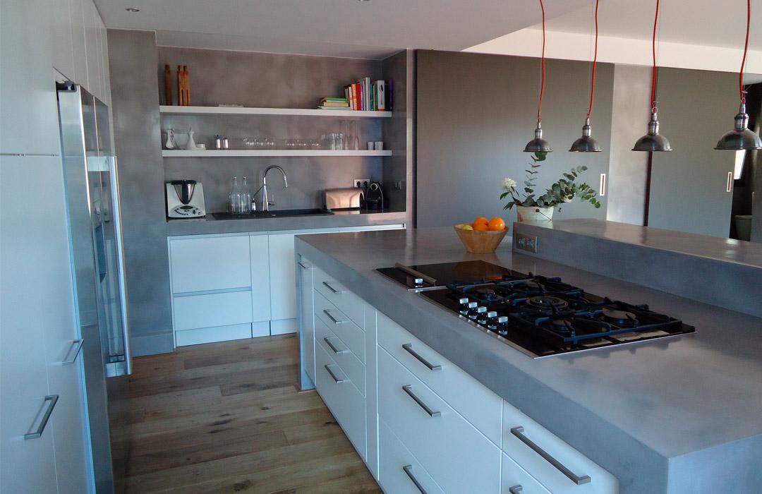 Bonito microcemento cocina fotos blog decoracion original - Microcemento para cocinas ...