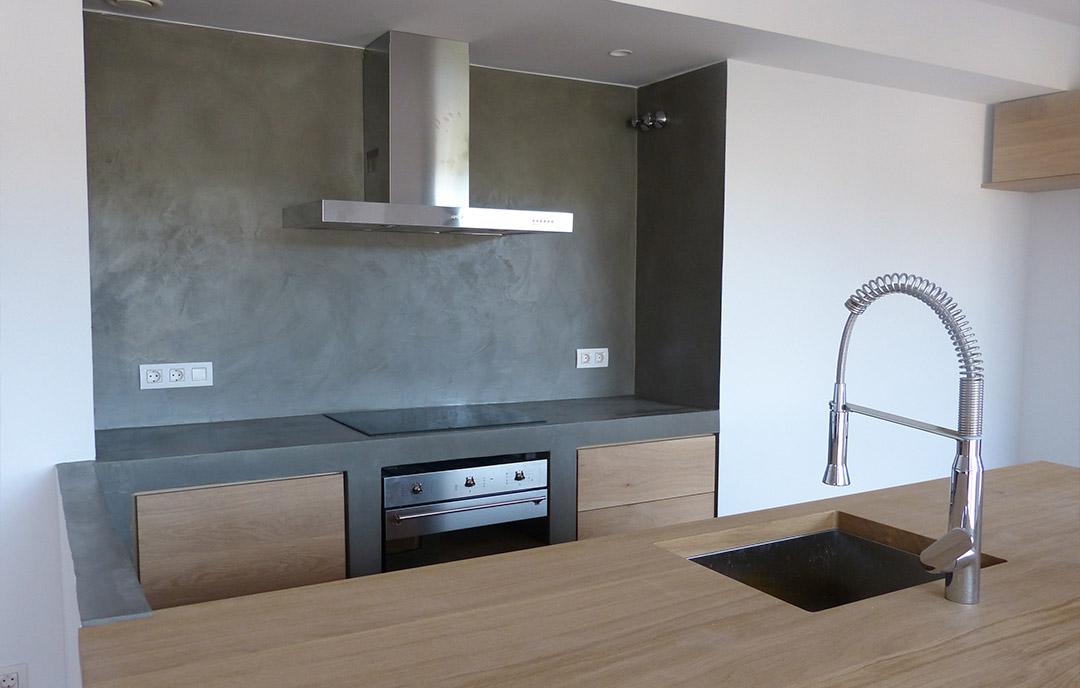 Hermoso microcemento cocina fotos cocina paredes y suelo - Microcemento para cocinas ...
