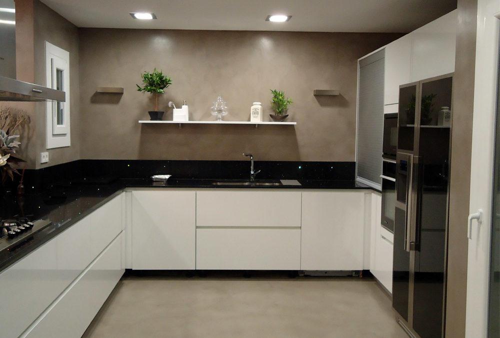 suelos para cocinas modernas microcemento